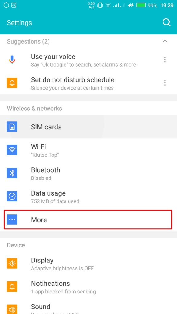More Settings on Infinix Smartphones